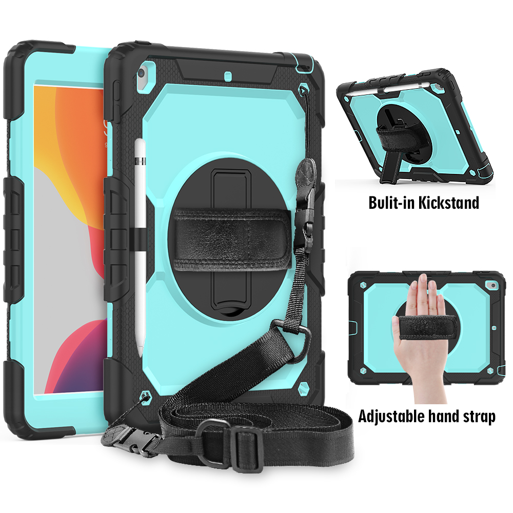 BLACK BLACK 360 degree rotation Shockproof Kids cover For iPad 8th 2020 7th Gen 10 2 A2200 A2198