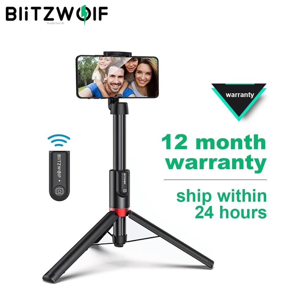 Blitzwolf BW-BS10 Плюс складной Tripod Monopod Selfie Stick 1300mm Супер-длинная длины Extendable Monopod Беспроводной Bluetooth Селфи Stick Tripod для IOS Android Мобильный телефон кронш...