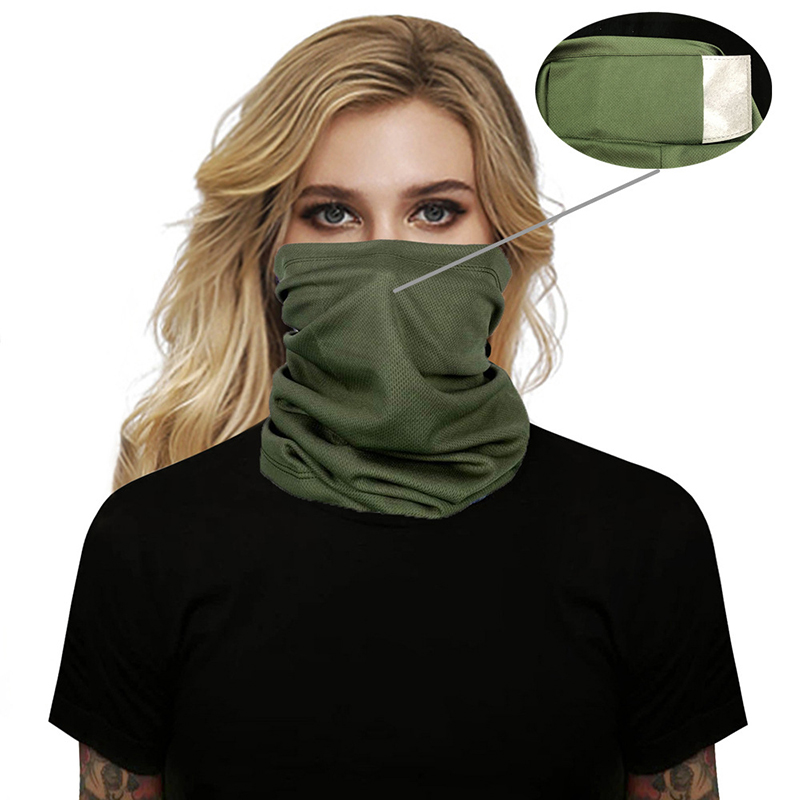 Dustproof Fishing Scarf Summer Face Cover Outdoor Sports Bandana Anti UV Hiking Running Breathable Face Neck Gaiter 6 Colors
