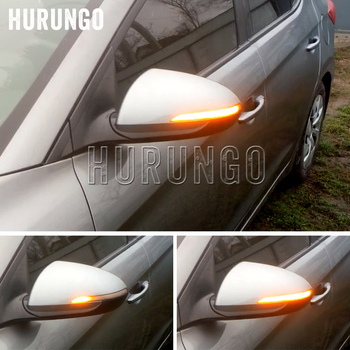Para Hyundai Elantra Avante MK6 2016 de 2017 de 2018 dinámico 2019 luz LED de intermitente Indicador de espejo retrovisor secuencial