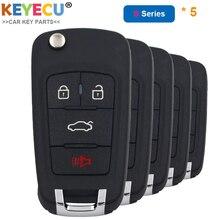 KEYECU 5 Pieces/ Lot, KEYDIY B Series B18 Universal Remote Control Key   3+1/ 4 Buttons   for KD900 KD900+ URG200 KD X2 MINI KD