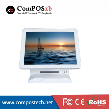 """computer Point of sale commerical pos all in one 15"""" resistive touch screen pos terminal retail restaurant cash register"""