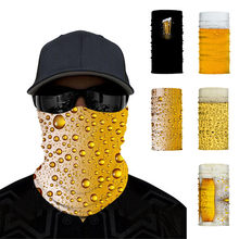 3D Water drop print Headwear Scarf Outdoor Cycling Windproof Anti-Dust Warm Face Mask Multi-functional Sunscreen Bandana unisex(China)