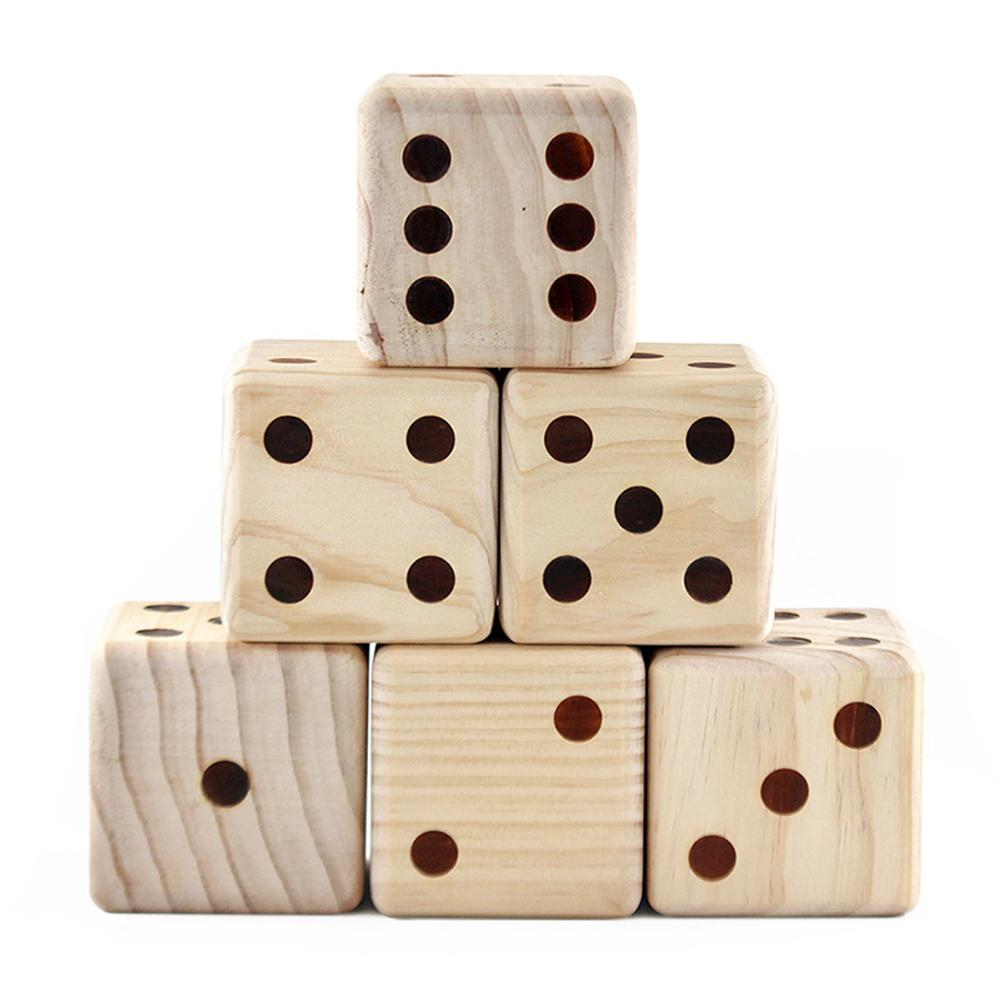 Indoor Outdoor Large Wooden Yard Lawn Dice Classic Toy For Adult Kid Family Play Great For Outdoor Lawn Backyard Beach Events