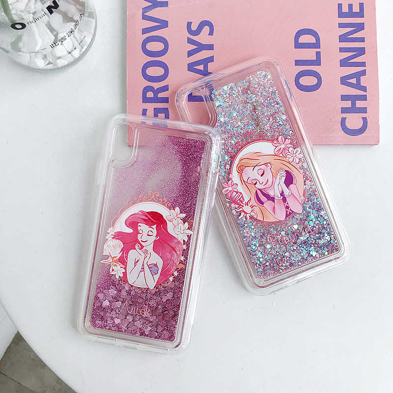 Liscn Lucu Ponsel Case untuk Iphone 6 6S Plus 7 7 Plus X XS XR X Max 11 Pro max Tidur Kecantikan Mewah Anti-Knock Phone Cover