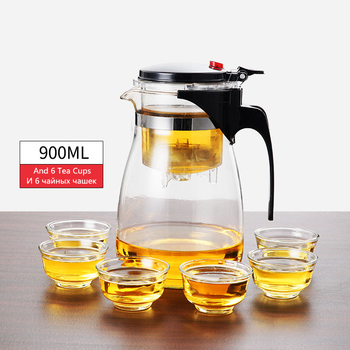 Théière en verre résistant à la chaleur, tasses de thé, 7