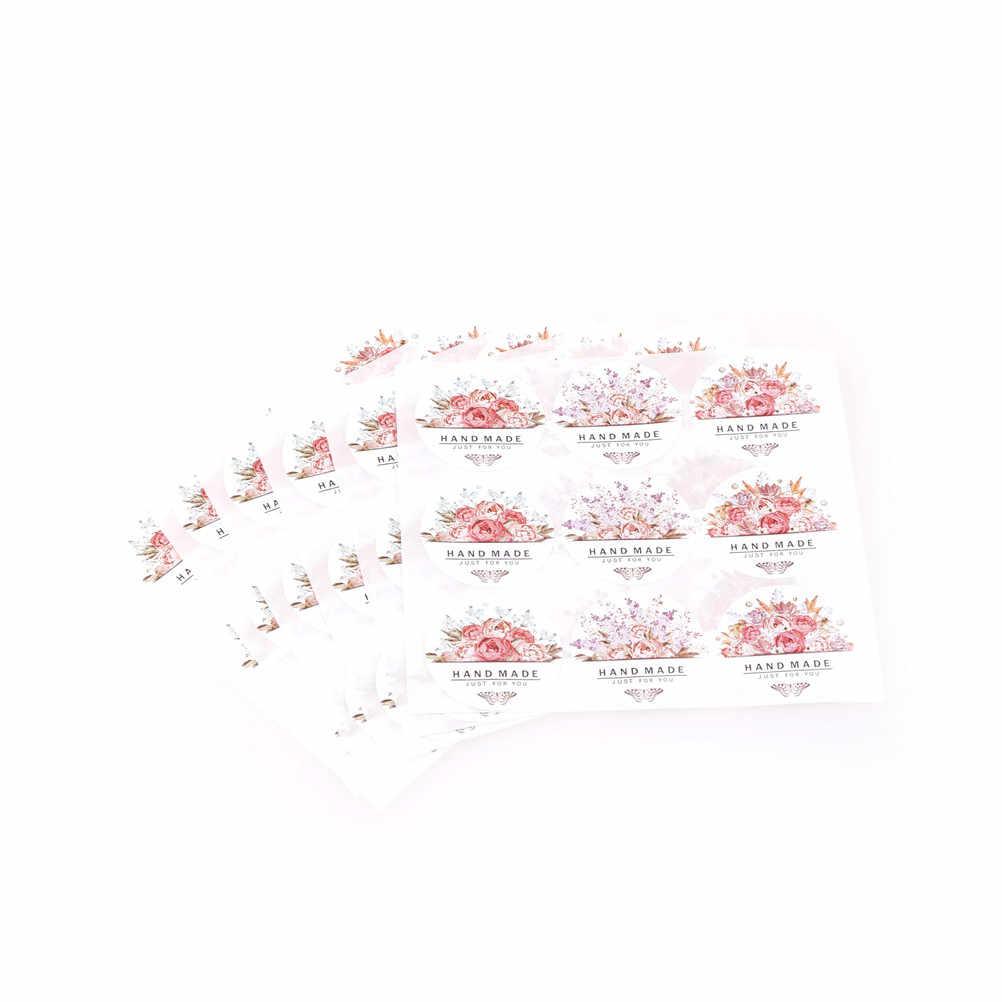 54 Chiếc/Bộ 60 3.5Cm Hoa Thiết Kế Cảm Ơn Bạn Dán Nhãn Cho Cảm Ơn Bạn Hải Cẩu Cho Quà Tặng Sáng Tạo giấy Dán Bếp