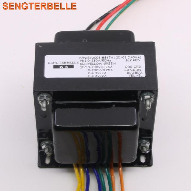 140W צינור מגבר שנאי 230VX2 6.3VX1 6.3VX1 באיכות גבוהה שנאי עבור EL34 צינור כוח Amp