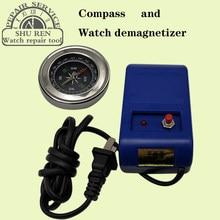 Relógio desmagnetizador, ferramenta de desmagnetizador magnetizador, bússola polegar, bússola orienteering, deflator, bússola circular