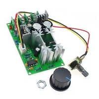 DC 10-60V 0 20A Motor DC regulador de velocidad de 25KHz Max 1200W de alta potencia Módulo regulador PWM controlador de velocidad del Motor interruptor