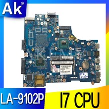 VAW11 LA-9102P REV: 17 de 1,0 Für Dell Inspiron 3721 5721 Laptop Motherboard CN-0N9G7X 0N9G7X I7-3537U CPU mainboard originais(China)