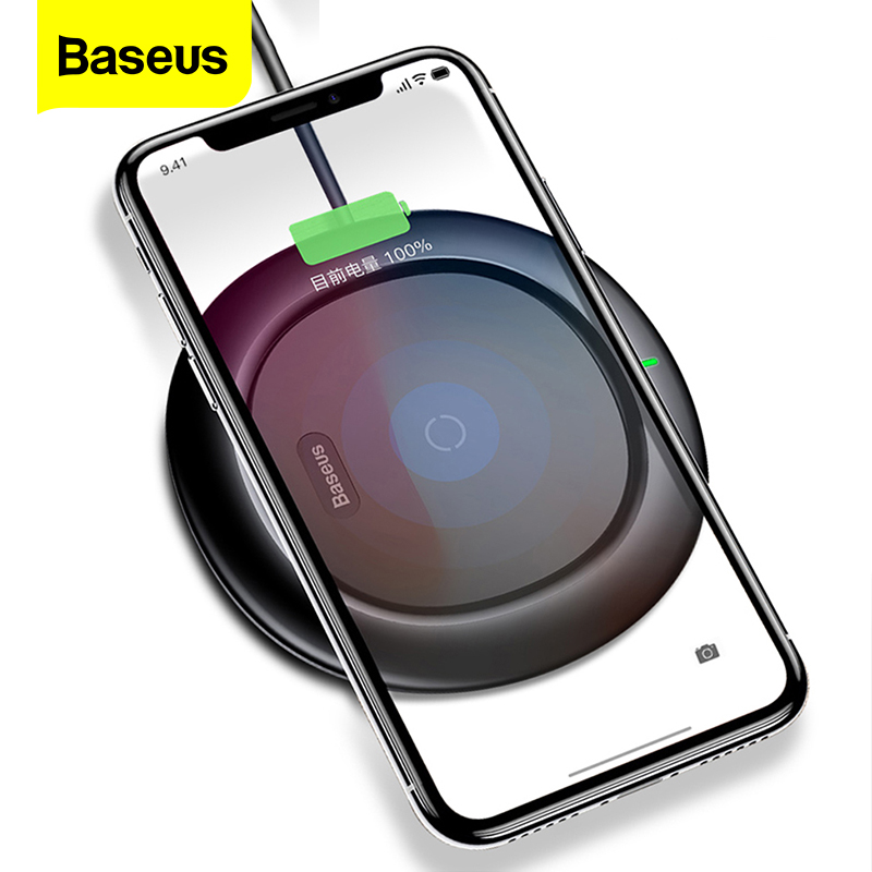 Baseus 10w Qi Wireless Charger For iPhone 11 Pro Xs Max X 8 Samsung S10 Note 10 Xiaomi Mi 9 Fast Wirless Wireless Charging Pad Wireless Chargers     - title=