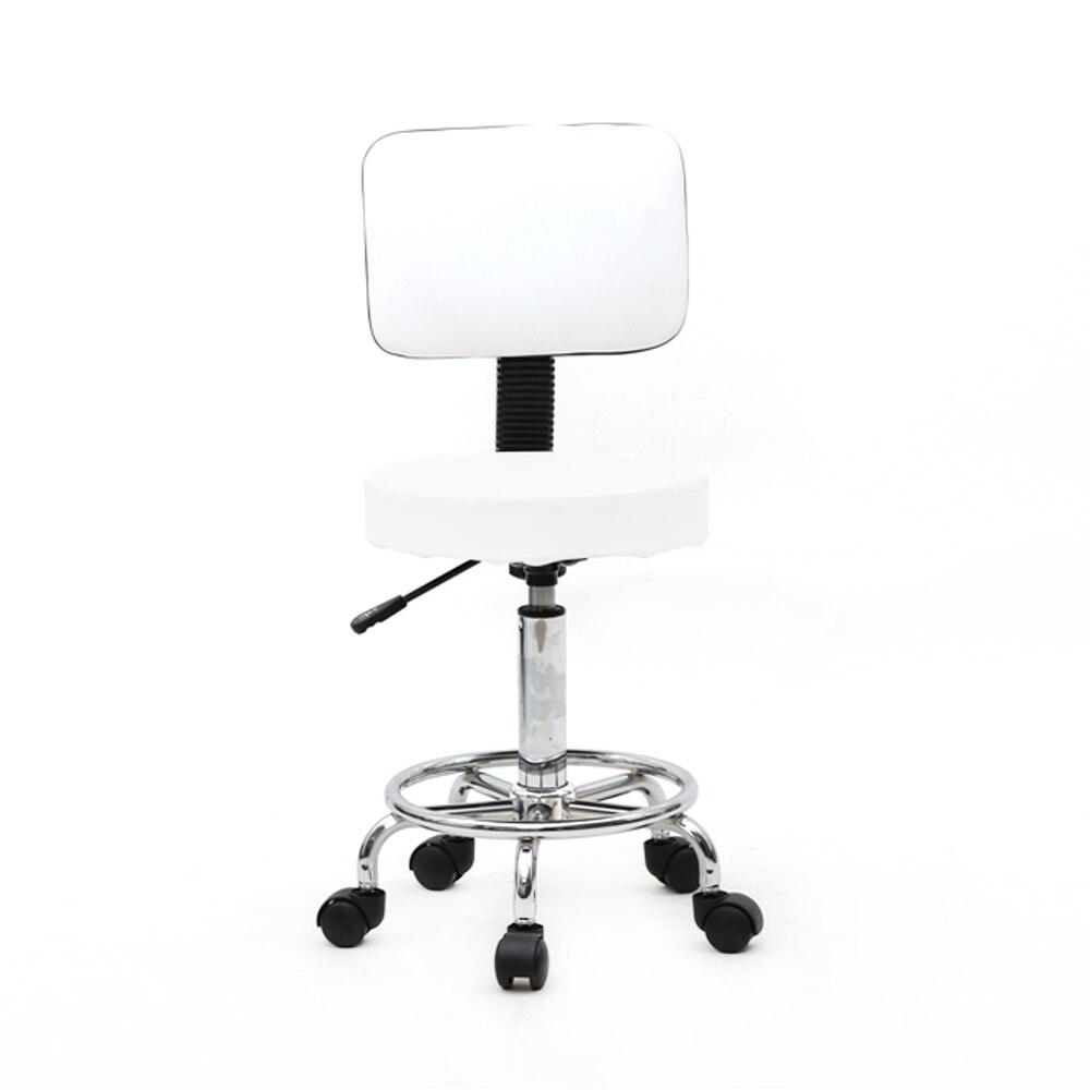 【UK Warehouse】Round Shape Adjustable Salon Stool With Back White {Free Shipping UK} Drop Shipping*