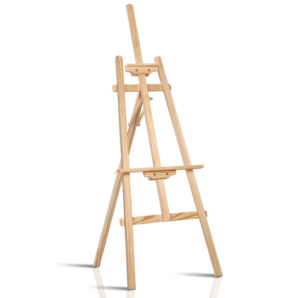 Artiss Modern Floor Easel - White Oak WOOD-B-EASEL-NEW-2019-NT Adjustable Height Lightweight Classic A-Frame