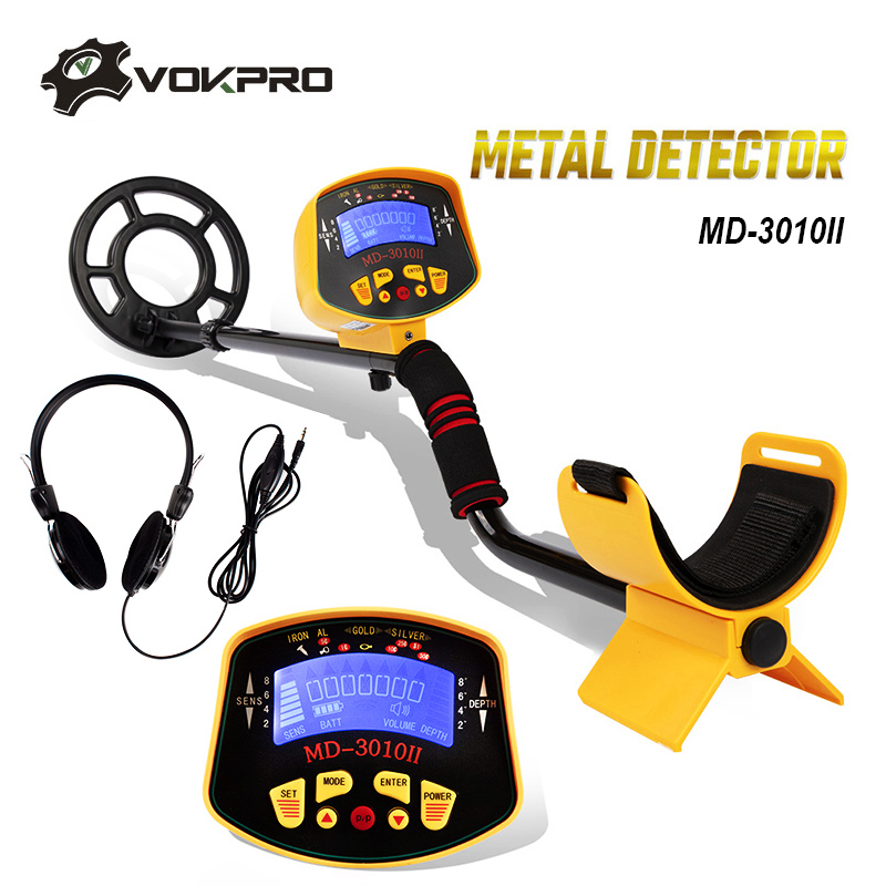 MD-3010II Underground Metal Detector Portable High Sensitivity Gold Pinpointing Gold Digger Finder Treasure Hunter