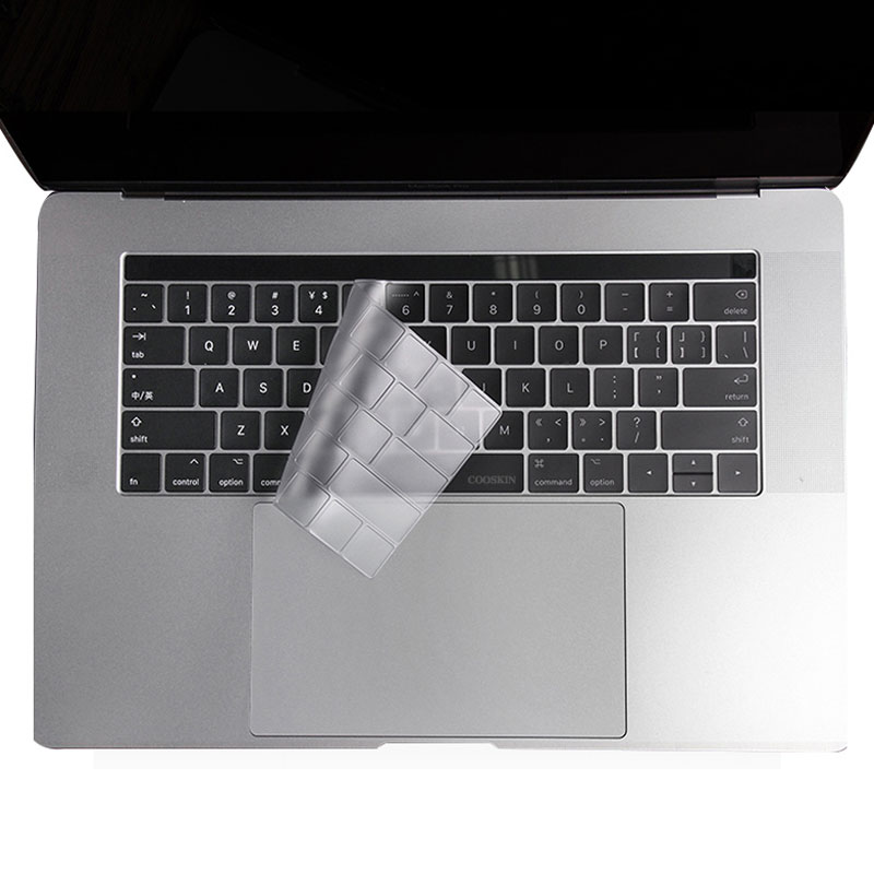 Mosible Keyboard <font><b>Cover</b></font> for <font><b>Apple</b></font> <font><b>Macbook</b></font> <font><b>Pro</b></font> 13 <font><b>15</b></font> inch 1707/1706 with Touch Bar US Model Soft Silicone Protector Skin image