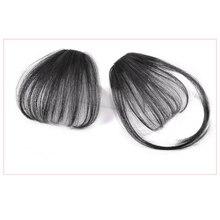 Salonchat не-Реми волосы поддельные длинные тупые челки волосы на клипсах для наращивания поддельные бахрома настоящие волосы натуральные накладные волосы для женщин
