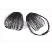 Headband Hair-Bangs Clip-In-Extension Women Natural for Fake Black False-Hairpiece 100%Real-Hair