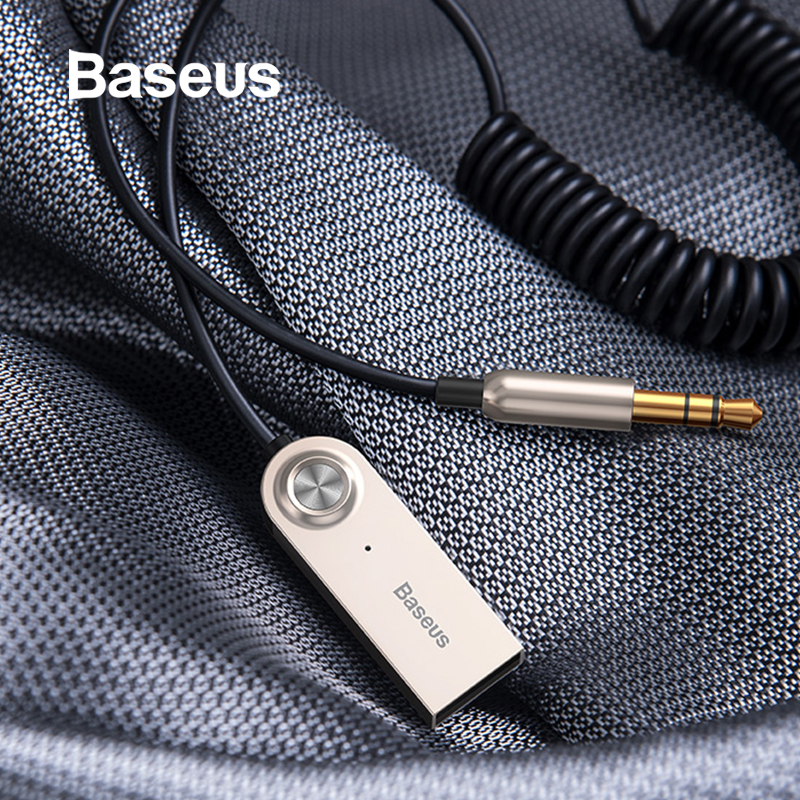 Baseus Bluetooth Transmissor Receptor Sem Fio Bluetooth 5.0 Carro AUX 3.5 milímetros Cabo Adaptador de Áudio Bluetooth Para Speaker Fones De Ouvido