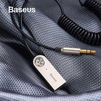 Baseus Bluetooth transmisor inalámbrico Bluetooth receptor 5,0 coche AUX 3,5mm Bluetooth adaptador Cable de Audio para auriculares de altavoz
