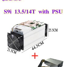Utilisé seulement 80-90% nouveau AntMiner S9i 13.5T/14T Bitcoin Mineur avec alimentation Asic Mineur 16nm Btc BCH Mineur mieux que S9 S9K T9 V9 E9