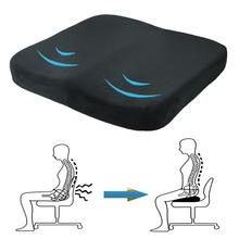 Memory Foam Wedge Car Seat Chair Lumbar Support Cushion Back Pain Height Booster For Office Pain Relief Elastic memory foam lumbar cushion premium lumbar support gel chair soft back cushion random color