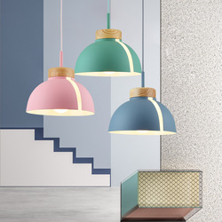 Nordycki współczesny zwyczajnym kolorze lampa do jadalni makaron żyrandol duński spersonalizowany bar jadalnia lampa stołowa w Wiszące lampki od Lampy i oświetlenie na