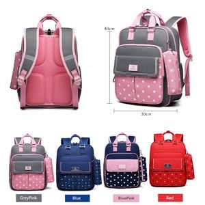 Image 2 - OKKID high quality kids orthopedic school backpack for girls school bag girl schoolbag children book bag set cute pencil case