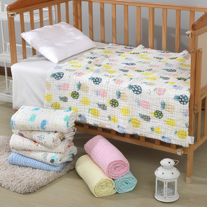 Baby Blanket Cotton Baby Muslin Squares Baby Bath Towel Newborn Cotton Bamboo Muslin Blanket Size 110*110cm