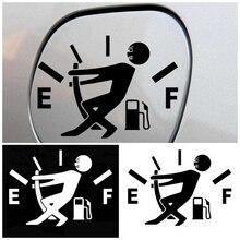 1 шт. забавные Стикеры для автомобиля Потяните топливный бак крышка крышки указатель полный Hellaflush светоотражающие автомобильные виниловые наклейки стайлинга автомобилей
