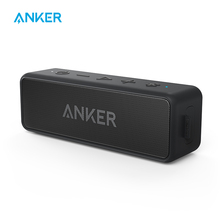 Портативный динамик Anker SoundCore 2, Bluetooth колонка с зоной действия 66 футов, время работы 24 часа, влагоустойчивость IPX7, воспроизведение басов