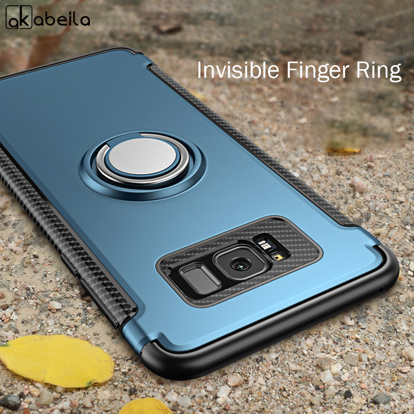 Note 10 Plus Cases For Samsung Galaxy Note 10 Pro 8 9 Case Magnetic Car Holder Finger Ring S7 Edge S8 Plus S9 Plus Cover Coque