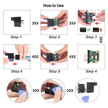 Mini GPS Tracker Car Tracker Micodus MV720 Hidden Design Cut Off Fuel GPS Car Locator 9-90V 80mAh Shock Overspeed Alert Free APP 6