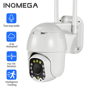 INQMEGA PTZ Dome Outdoor IP Camera Wifi 1080P 4X Zoom AI Detect Home Smart Cam Wireless Video Surveillance Security CCTV Camera
