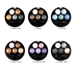 Pigment Eyeshadow 5 Color Baked Eyeshadow Palette Makeup Earth Peach Color Metallic Pigment Matte Eye Shadow Powder With Mirror(China)
