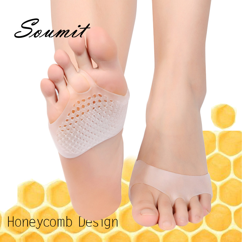 Soumit Honeycomb Forefoot Pads Silicone Gel Half Yard Pad for Women Pain Relief Foot Blister Care Toes Inserts Dropshipping Sole