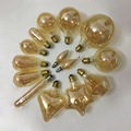 E14 E27 Retro LED Spiral Filament Light Bulb 4W Warm Yellow 220V C35 A60 T45 ST64 T185 G80 G95 G125 Vintage Edison Lamp Bulbs