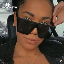 MOLNIYA Classic Vintage Square Sunglasses Woman Siamese Over