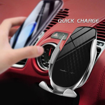Kisscase Car Phone Holder For iPhone 11 Pro Max Qi Wireless Charger For Xiaomi Redmi Note 8 Pro Fast Wireless Charging Holder