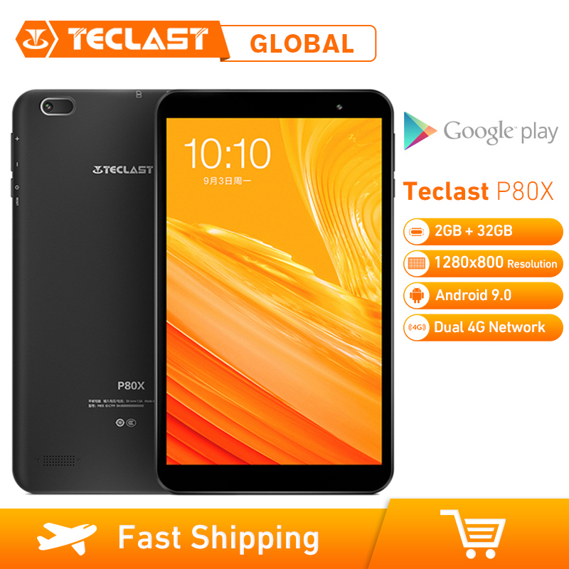 Teclast P80X 8inch 4G Tablet Android 9.0 SC9863A IMG GX6250 Octa Core 1.6GHz 2GB RAM 32GB ROM Dual Cameras Tablet