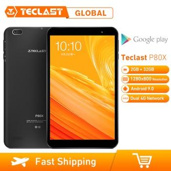 Teclast P80X 8 pulgadas 4G Tablet Android 9,0 SC9863A IMG GX6250 Octa Core 1,6 GHz 2GB RAM 32GB ROM Tablet con cámara dual