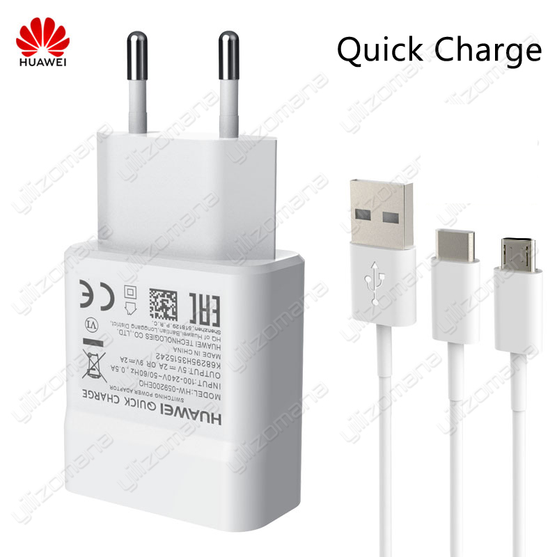 Original Huawei Fast Charger 5V/2A 9V/2A QC 2.0 USB Quick Charging For Huawei P8 P9 Plus Lite Honor 8 9 Mate 8 10 Nova 2 2i 3 3i