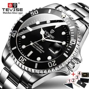 Image 5 - TEVISE T801 التلقائي ساعة ميكانيكية الرجال 2020 مقاوم للماء ساعات رجالي العلامة التجارية الفاخرة الأزرق ساعة اليد Relogio Masculino 2019