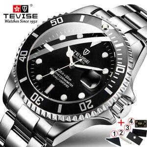 Image 5 - TEVISE T801 automatyczny zegarek mechaniczny mężczyźni 2020 wodoodporne męskie zegarki Top marka luksusowy niebieski zegarek Relogio Masculino 2019