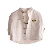 VIDMID Boys cotton shirt 2021 new long-sleeved shirt baby Korean fashion loose jacket P4072
