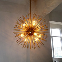 Orb Round sputnik chandelier Kitchen Dining room Bar Golden Chandelier indoor home Dandelion Chandelier Lighting