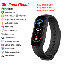 Fitpro M6 Band Smartband Fitness Bracelet Heart Rate Blood Pressure Monitor Globle Version My M6 Smart Band 6 For Xiaomi Phone