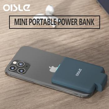 OISLE 4225mAh mini external Battery Charger Smart Battery Case fast Wireless Power Bank For iPhone 6 6s 7 8 Plus X 12 11/5S/se2