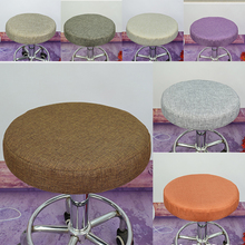 Bar Stool Cover - Round Seat Replacement Chair Cover - Kitchen Pub Office