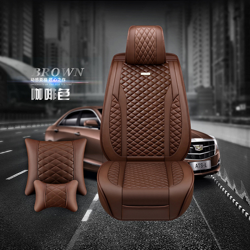 Nuevas fundas universales para asientos de coche compatibles con Citroen C3 XR C4 C5 C6 ds5LS DS6 DS 4S de cuero PU de lujo Auto cojín impermeable para asiento - 6